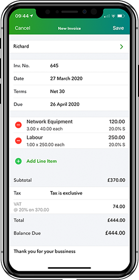 Accounting on the go - Tetbury Accounting software